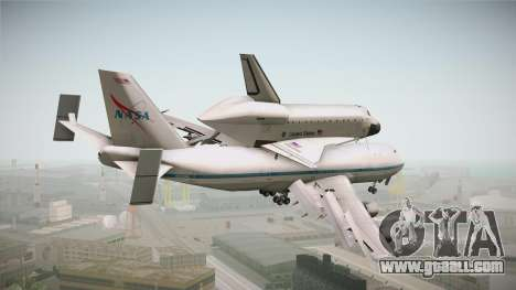 Boeing 747-100 Shuttle Carrier Aircraft for GTA San Andreas right view