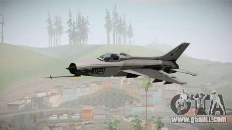 F-7 PG Pakistan Airforce for GTA San Andreas