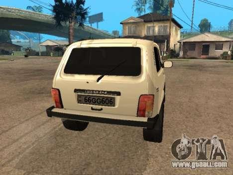 Niva 2121 Аrmenian for GTA San Andreas back left view