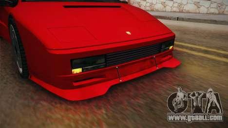 GTA 5 Pegassi Infernus Classic SA Style for GTA San Andreas inner view