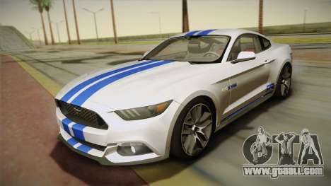Ford Mustang GT 2015 5.0 for GTA San Andreas bottom view
