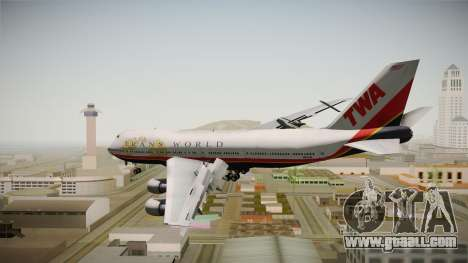 Boeing 747 TWA Final Livery for GTA San Andreas right view