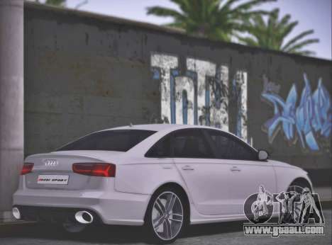Audi RS6 2016 for GTA San Andreas left view