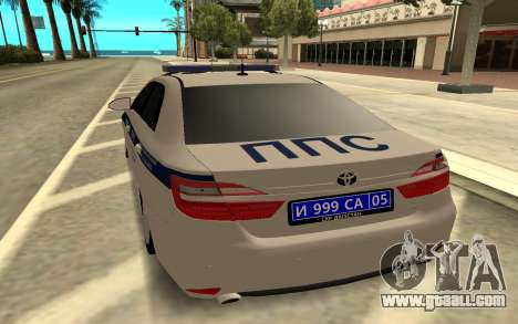 Toyota Camry Police for GTA San Andreas back left view