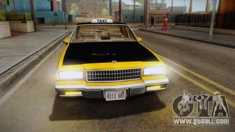 Chevrolet Caprice Taxi 1989 IVF for GTA San Andreas side view