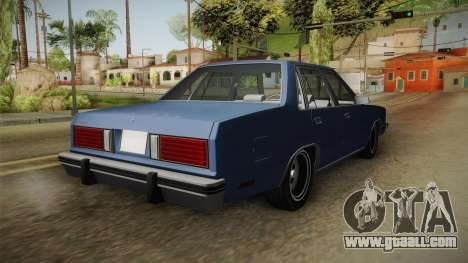 Ford Zephyr 1982 for GTA San Andreas right view