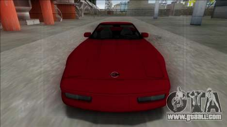 1996 Chevrolet Corvette C4 Cabrio for GTA San Andreas back left view