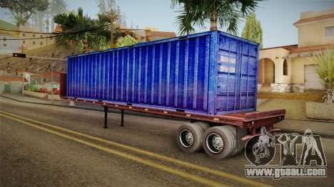 Blue Trailer Container HD for GTA San Andreas left view