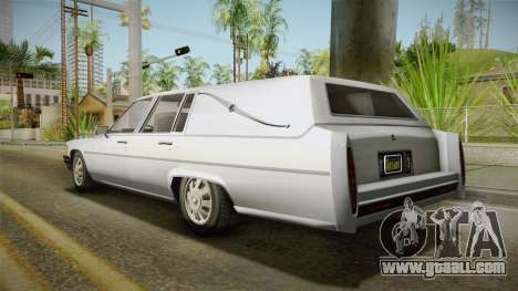 GTA 5 Albany Emperor Hearse IVF for GTA San Andreas left view