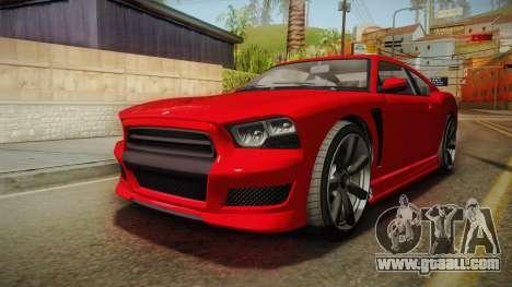 GTA 5 Bravado Buffalo 2-doors Coupe IVF for GTA San Andreas back left view