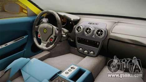 Ferrari F430 Spyder for GTA San Andreas inner view