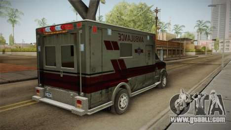 Resident Evil - Ambulance for GTA San Andreas back left view