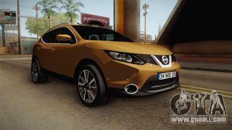 Nissan Qashqai 2016 IVF for GTA San Andreas right view