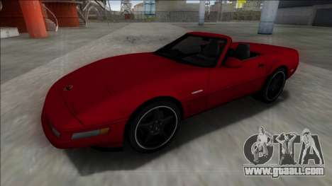 1996 Chevrolet Corvette C4 Cabrio for GTA San Andreas back view