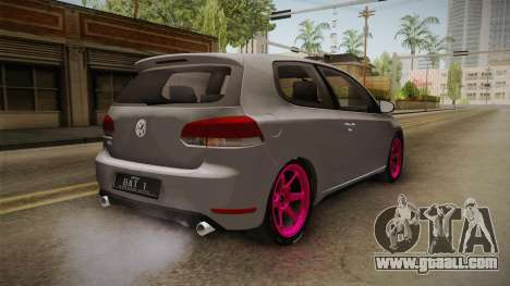 Volkswagen Golf Mk6 GTI for GTA San Andreas back left view