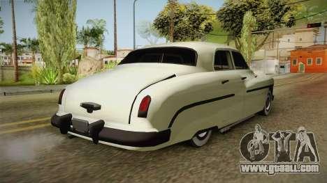 Mercury Monterey Sedan 1950 for GTA San Andreas back left view