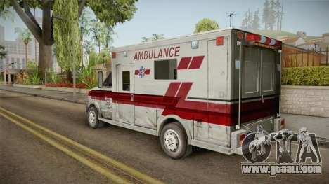 Resident Evil - Ambulance for GTA San Andreas left view
