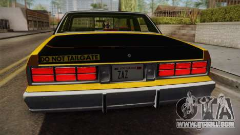 Chevrolet Caprice Taxi 1989 IVF for GTA San Andreas back view