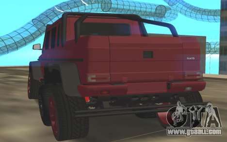 BRABUS G6x6 for GTA San Andreas back left view