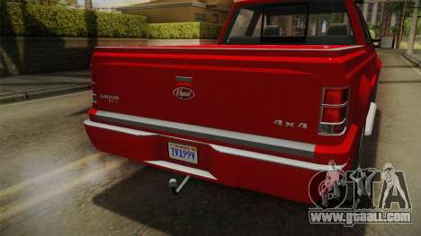 GTA 5 Vapid Sadler for GTA San Andreas