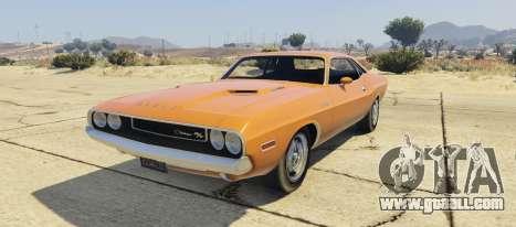 Dodge Challenger 70 for GTA 5