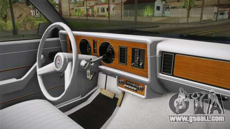Ford Zephyr 1982 for GTA San Andreas inner view