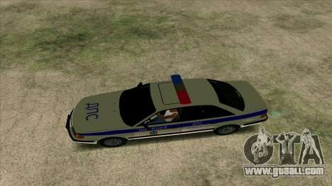 Audi 100 C4 Police for GTA San Andreas back view