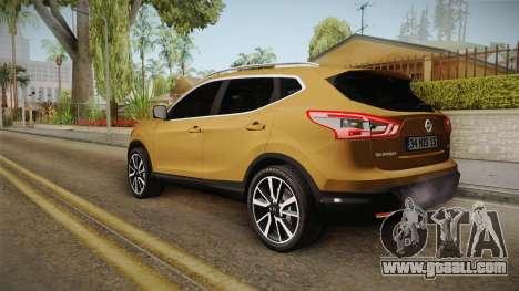 Nissan Qashqai 2016 IVF for GTA San Andreas