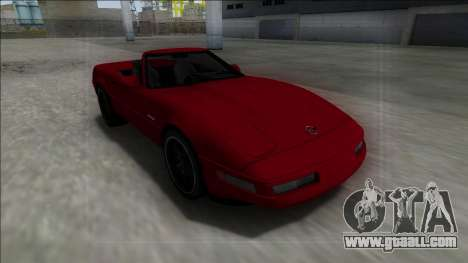 1996 Chevrolet Corvette C4 Cabrio for GTA San Andreas right view