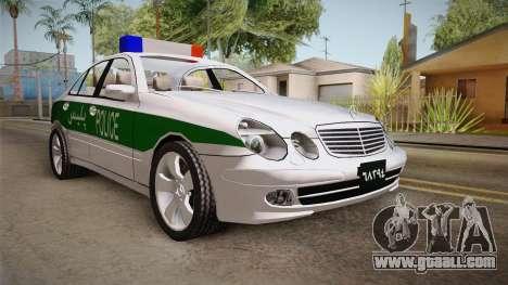 Mercedes-Benz E500 Iranian Police for GTA San Andreas right view
