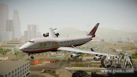 Boeing 747 TWA Final Livery for GTA San Andreas