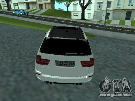 BMW X5 E70 Armenian for GTA San Andreas back left view