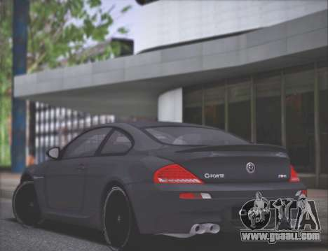 BMW M6 G-Power Hurricane RR for GTA San Andreas back left view