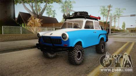 Trabant 601 4x4 Off Road for GTA San Andreas back left view