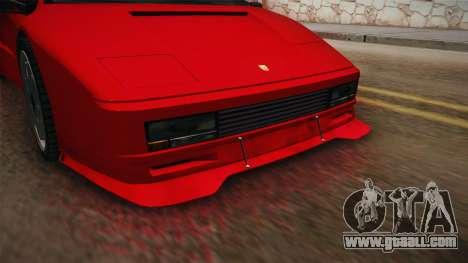GTA 5 Pegassi Infernus Classic SA Style for GTA San Andreas back view