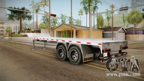 American Flatbed (Multiple) Trailer for GTA San Andreas left view