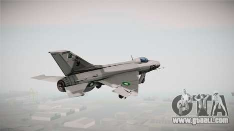 F-7 PG Pakistan Airforce for GTA San Andreas right view
