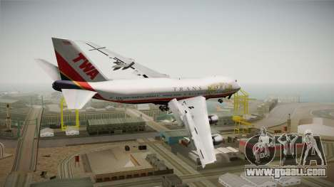 Boeing 747 TWA Final Livery for GTA San Andreas left view