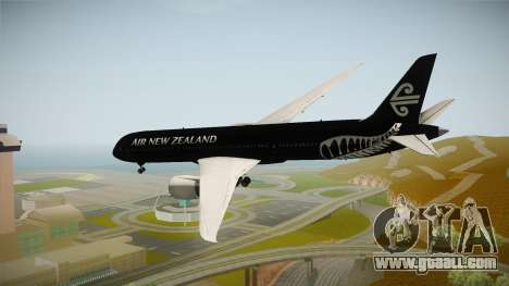 Boeing 787 Air New Zealand Black Edition for GTA San Andreas left view
