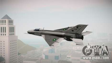 F-7 PG Pakistan Airforce for GTA San Andreas left view