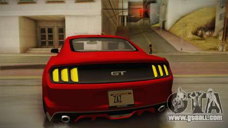 Ford Mustang GT 2015 5.0 for GTA San Andreas upper view