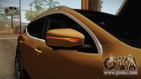 Nissan Qashqai 2016 IVF for GTA San Andreas interior