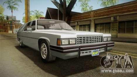 GTA 5 Albany Emperor Hearse IVF for GTA San Andreas right view