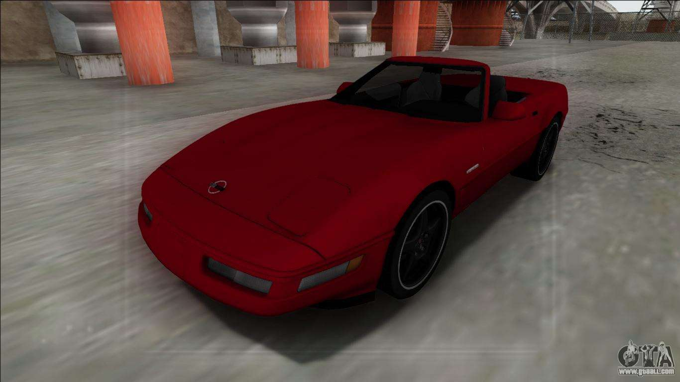 1996 chevrolet corvette c4 cabrio for gta san andreas. Black Bedroom Furniture Sets. Home Design Ideas