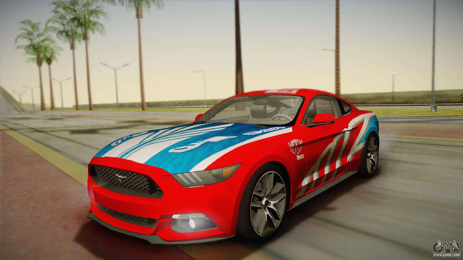 ford mustang gt 2015 5 0 for gta san andreas. Black Bedroom Furniture Sets. Home Design Ideas