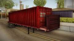 Red Trailer Container HD