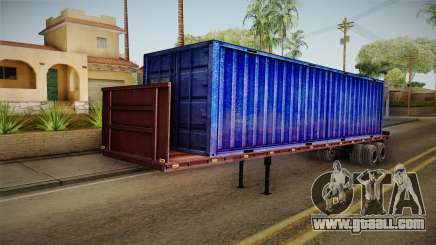 Blue Trailer Container HD for GTA San Andreas