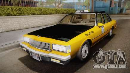 Chevrolet Caprice Taxi 1989 IVF for GTA San Andreas