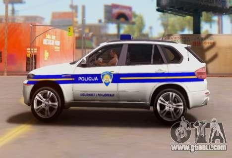 BMW X5 Croatian Police Car for GTA San Andreas