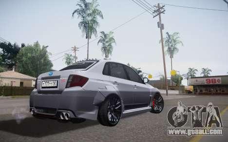 Subaru Impreza WRX STI 2009 TUNED for GTA San Andreas left view